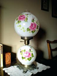 gone with the wind lamp gone with the wind hurricane lamp milk glass hand painted