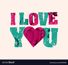 i love you concept sted word art vector image