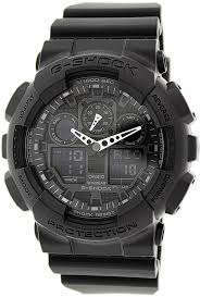 best military watch reviews and guide 2016 casio men s ga100 1a1 black resin quartz watch black dial watch casio