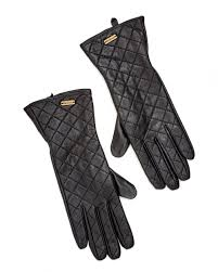 Barbour Lifestyle Womens Gauntlet Quilted Leather Gloves & Lifestyle Womens Gauntlet Quilted Leather Gloves Adamdwight.com