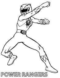 Mighty Morphin Power Rangers Coloring Pages Kryptoskoleninfo