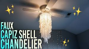 and easy diy faux capiz shell chandelier