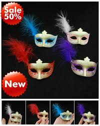Miniature Masquerade Masks Decorations Supper Mini Feather Mask for Wedding Party Gift Cute Masquerade 17