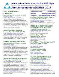 2017 August Announcements Flyer My Wordpress Website