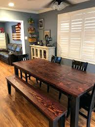 solid wood farmhouse table dining kitchen built to order rustic harvest