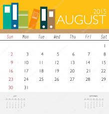 2015 calendar template 2015 calendar monthly calendar template for august vector illu