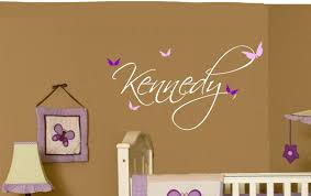 wall decal girl nursery butterfly name baby girl wall decal nursery decor  vinyl zoom wall decals . wall decal girl ...