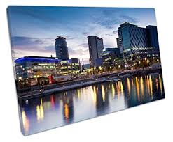 eacanvas manchester city centre canvas wall art picture large 75 x 50 cm on manchester skyline wall art with eacanvas manchester city centre canvas wall art picture large 75 x