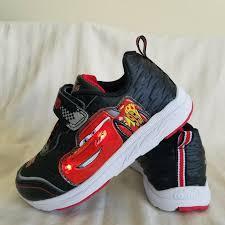 Lightning Mcqueen Light Up Sneakers Disney Pixar Red Boys Car Lightning Mcqueen Shoes Size 10 Lights Up When Walking
