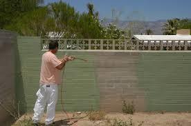 painting block walls exterior