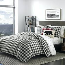 black plaid king size duvet cover set white checked bedding king size duvet cover sets king
