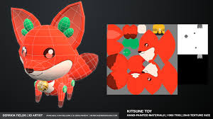 ArtStation - Kitsune Toy, Derrick Fields