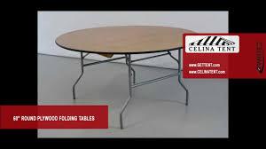 round wood folding tables 60 5 diameter