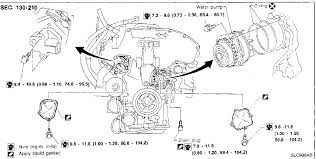 i am replacing the water pump on my 96 maxima even the see image graphic graphic