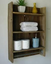 Wooden bathroom towel rack shelf wood 3tier bathroom shelf simply