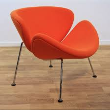 orange slice f437 lounge chair by pierre paulin for artifort 1970s