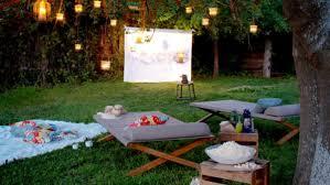 Set up a backyard cinema.