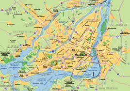 montreal city map  montreal canada • mappery