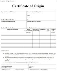 Example Certificate Of Origin free Certificate of Origin Template Free Word Templates 1