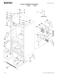 Maytag model mfi2665xew6 bottom mount refrigerator genuine parts on maytag wiring schematic