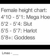 Female Height Chart 4 10 511 Mega Hoe 52 54 Slut 515 517