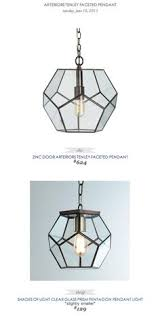 clear glass prism pentagon pendant light. Plain Prism Clear Glass Prism Pentagon Ceiling Light  Pinterest Ceiling And  Lights Intended Pendant R