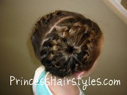 Pigtails Hair Style never ending french braid bun hairstyles for girls princess 5021 by wearticles.com