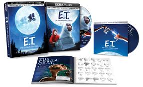 e t the extra terrestrial 35th anniversary gift set ing to blu ray and 4k on 9 12