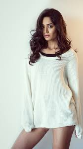 Curly hair girl, white sweater, sexy ...