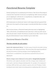 Functional Resume Format template Template For Functional Resume 75