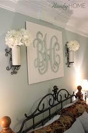 monogram initials wall art