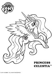 Small Picture Free Online My Little Pony Princess Celestia Colouring Page