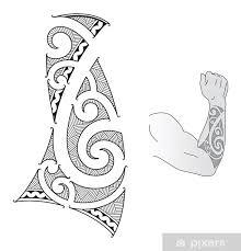 Fototapeta Vinylová Maori Styl Tetování Design Se Hodí Pro Předloktí