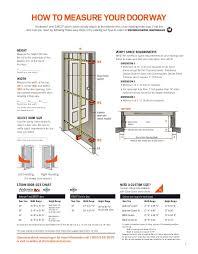 entry door size brochure storm screen door 9077597