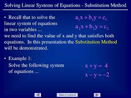 ppt solving linear systems of