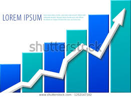 Growth Chart Template Simple Drawing White Stock Vector