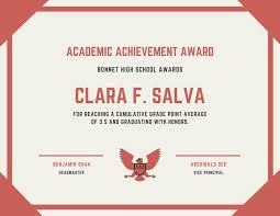 Principal Award Certificate Academic Achievement Award Certificate Templates By Canva