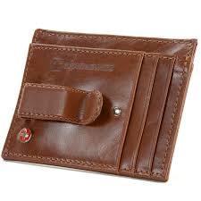 alpine swiss mens money clip genuine leather minimalist slim front pocket wallet 0
