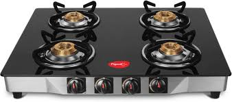 Pigeon Ultra Glass Stainless Steel Manual Gas Stove Price in India