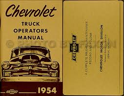 1954 1955 1st series chevrolet truck wiring diagram manual reprint related items