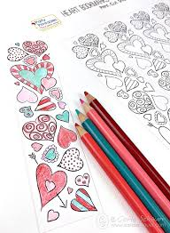 Bookmark Designs To Print Valentine Heart Bookmarks To Print And Color Carla Schauer