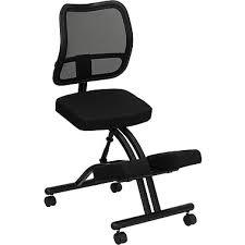 kneeling office chair. Flash Furniture Kneeling Fabric Office Chair, Armless, Black (WL3520) Chair