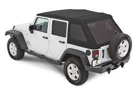 bestop trp nx glide twill soft top for 07 18 jeep wrangler jk 4 door quadratec