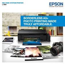 For epson ew k l m me nx p photo pm r printer waste ink pad full error reset key. Epson L1800 Borderless A3 Photo Printing Inkjet Printer Tech Nuggets