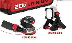 porter cable power tools. porter cable is expanding their 20v cordless line with a couple of new tools \u2013 random orbital sander and led light. power o