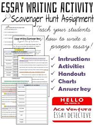 essay writing scavenger hunt learn how to write a paragraph  essay writing scavenger hunt learn how to write a 5 paragraph essay