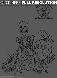 Skeleton Coloring Sheet 2017 Shishita World Com