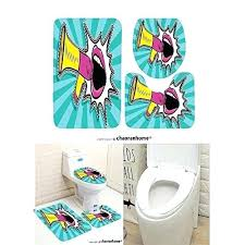 3 piece bath sets pattern bath mat piece bathroom mats y open female mouth and megaphone bathroom rugs contour mat toilet cover 3 piece bathroom rug set