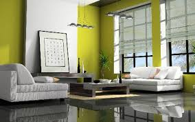 green color paint in living room