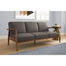 mid century modern couch. Contemporary Mid Better Homes And Gardens Flynn Mid Century Futon Multiple Colors   Walmartcom With Modern Couch R